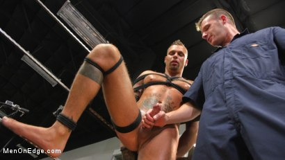 Photo number 13 from Motorcycle Mechanic Stud Gets His Road Hard Hog Ridden to the Edge shot for Men On Edge on Kink.com. Featuring Kai Donec in hardcore BDSM & Fetish porn.