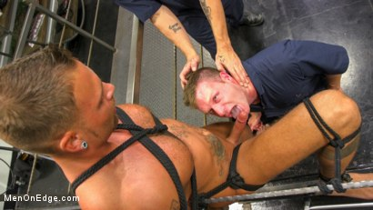 Photo number 9 from Motorcycle Mechanic Stud Gets His Road Hard Hog Ridden to the Edge shot for Men On Edge on Kink.com. Featuring Kai Donec in hardcore BDSM & Fetish porn.