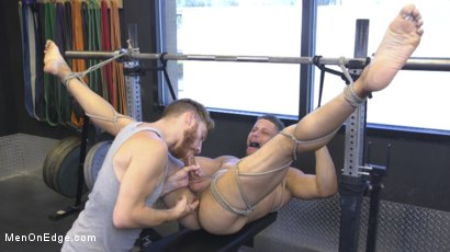 Photo number 15 from Tony Shore, Tied Up and Edged at the Gym shot for Men On Edge on Kink.com. Featuring Tony Shore in hardcore BDSM & Fetish porn.