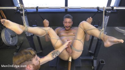 Photo number 19 from Tony Shore, Tied Up and Edged at the Gym shot for Men On Edge on Kink.com. Featuring Tony Shore in hardcore BDSM & Fetish porn.
