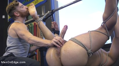 Photo number 21 from Tony Shore, Tied Up and Edged at the Gym shot for Men On Edge on Kink.com. Featuring Tony Shore in hardcore BDSM & Fetish porn.