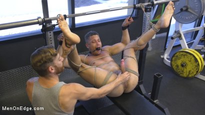 Photo number 25 from Tony Shore, Tied Up and Edged at the Gym shot for Men On Edge on Kink.com. Featuring Tony Shore in hardcore BDSM & Fetish porn.