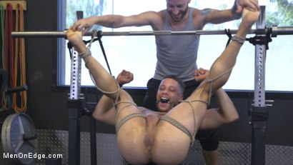 Photo number 26 from Tony Shore, Tied Up and Edged at the Gym shot for Men On Edge on Kink.com. Featuring Tony Shore in hardcore BDSM & Fetish porn.