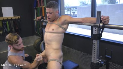Photo number 30 from Tony Shore, Tied Up and Edged at the Gym shot for Men On Edge on Kink.com. Featuring Tony Shore in hardcore BDSM & Fetish porn.