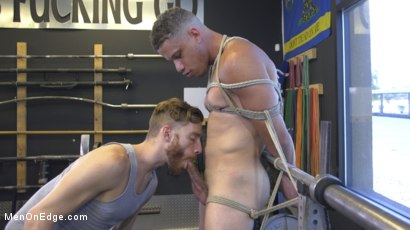 Photo number 7 from Tony Shore, Tied Up and Edged at the Gym shot for Men On Edge on Kink.com. Featuring Tony Shore in hardcore BDSM & Fetish porn.