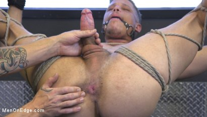 Photo number 10 from Tony Shore, Tied Up and Edged at the Gym shot for Men On Edge on Kink.com. Featuring Tony Shore in hardcore BDSM & Fetish porn.