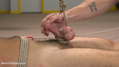 Photo number 15 from Helpless David Emblem Gets Bound, Suspended, and Edged Repeatedly shot for Men On Edge on Kink.com. Featuring David Emblem in hardcore BDSM & Fetish porn.