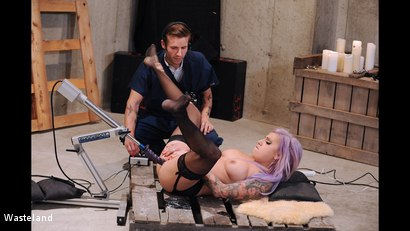 Photo number 11 from BDSM Test Pilot shot for Wasteland on Kink.com. Featuring Richie Stone and Vyxen Steel in hardcore BDSM & Fetish porn.