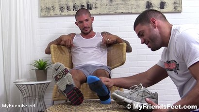 Photo number 2 from Johnny Hazzard Stomps Ricky Larkin shot for My Friends Feet on Kink.com. Featuring Ricky Larkin and Johnny Hazzard in hardcore BDSM & Fetish porn.