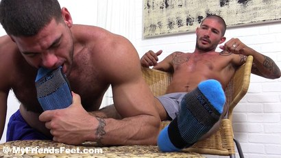 Photo number 4 from Johnny Hazzard Stomps Ricky Larkin shot for My Friends Feet on Kink.com. Featuring Ricky Larkin and Johnny Hazzard in hardcore BDSM & Fetish porn.