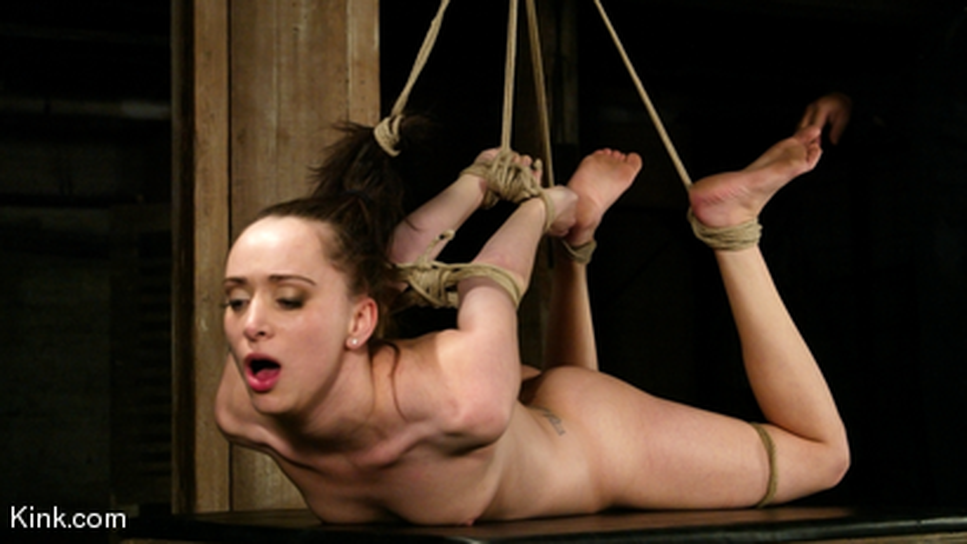 Photo number 4 from Maya Matthews is Made to Cum in Tight Bondage shot for Hogtied on Kink.com. Featuring Maya Matthews in hardcore BDSM & Fetish porn.
