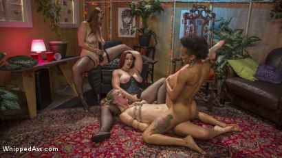 Photo number 22 from Dyke Bar Underground: Mona Wales Submits! shot for Whipped Ass on Kink.com. Featuring Mona Wales, Bella Rossi, Nikki Darling and Mistress Kara in hardcore BDSM & Fetish porn.