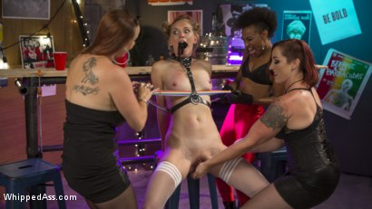 Photo number 2 from Dyke Bar Underground: Mona Wales Submits! shot for Whipped Ass on Kink.com. Featuring Mona Wales, Bella Rossi, Nikki Darling and Mistress Kara in hardcore BDSM & Fetish porn.