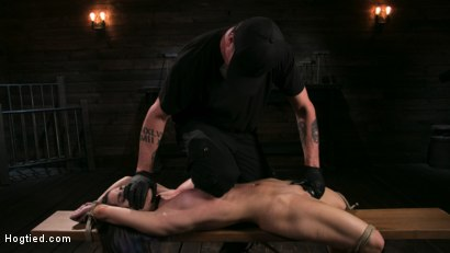 Photo number 10 from Girl Next Door Serena Blair Restrained and Made to Cum in Rope Bondage shot for Hogtied on Kink.com. Featuring The Pope and Serena Blair in hardcore BDSM & Fetish porn.