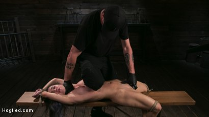 Girl Next Door Serena Blair Restrained and Made to Cum in Rope Bondage