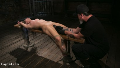 Photo number 12 from Girl Next Door Serena Blair Restrained and Made to Cum in Rope Bondage shot for Hogtied on Kink.com. Featuring The Pope and Serena Blair in hardcore BDSM & Fetish porn.