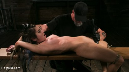 Photo number 13 from Girl Next Door Serena Blair Restrained and Made to Cum in Rope Bondage shot for Hogtied on Kink.com. Featuring The Pope and Serena Blair in hardcore BDSM & Fetish porn.