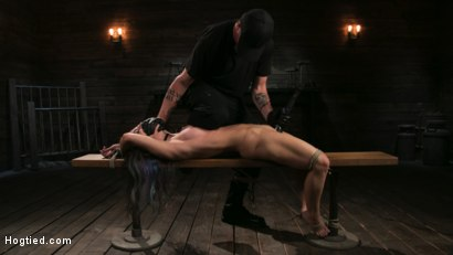 Photo number 14 from Girl Next Door Serena Blair Restrained and Made to Cum in Rope Bondage shot for Hogtied on Kink.com. Featuring The Pope and Serena Blair in hardcore BDSM & Fetish porn.