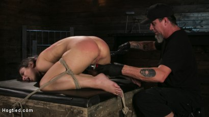 Photo number 18 from Girl Next Door Serena Blair Restrained and Made to Cum in Rope Bondage shot for Hogtied on Kink.com. Featuring The Pope and Serena Blair in hardcore BDSM & Fetish porn.
