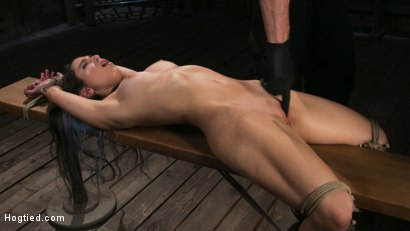 Photo number 7 from Girl Next Door Serena Blair Restrained and Made to Cum in Rope Bondage shot for Hogtied on Kink.com. Featuring The Pope and Serena Blair in hardcore BDSM & Fetish porn.