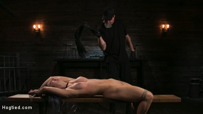 Photo number 8 from Girl Next Door Serena Blair Restrained and Made to Cum in Rope Bondage shot for Hogtied on Kink.com. Featuring The Pope and Serena Blair in hardcore BDSM & Fetish porn.