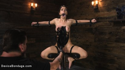 Photo number 10 from Petite Slut Serena Blair Punished and Made to Cum in Metal Bondage!! shot for Device Bondage on Kink.com. Featuring The Pope and Serena Blair in hardcore BDSM & Fetish porn.