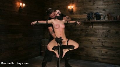 Photo number 11 from Petite Slut Serena Blair Punished and Made to Cum in Metal Bondage!! shot for Device Bondage on Kink.com. Featuring The Pope and Serena Blair in hardcore BDSM & Fetish porn.
