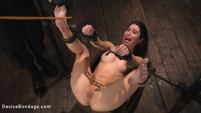 Photo number 15 from Petite Slut Serena Blair Punished and Made to Cum in Metal Bondage!! shot for Device Bondage on Kink.com. Featuring The Pope and Serena Blair in hardcore BDSM & Fetish porn.