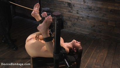 Photo number 16 from Petite Slut Serena Blair Punished and Made to Cum in Metal Bondage!! shot for Device Bondage on Kink.com. Featuring The Pope and Serena Blair in hardcore BDSM & Fetish porn.