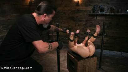 Photo number 18 from Petite Slut Serena Blair Punished and Made to Cum in Metal Bondage!! shot for Device Bondage on Kink.com. Featuring The Pope and Serena Blair in hardcore BDSM & Fetish porn.
