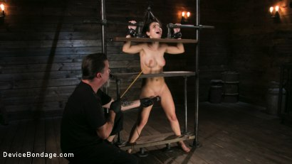 Photo number 6 from Petite Slut Serena Blair Punished and Made to Cum in Metal Bondage!! shot for Device Bondage on Kink.com. Featuring The Pope and Serena Blair in hardcore BDSM & Fetish porn.