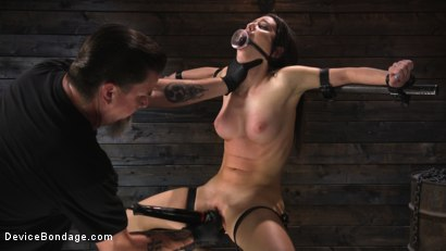 Photo number 8 from Petite Slut Serena Blair Punished and Made to Cum in Metal Bondage!! shot for Device Bondage on Kink.com. Featuring The Pope and Serena Blair in hardcore BDSM & Fetish porn.