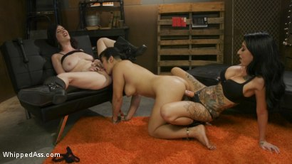 Photo number 17 from The Revolution is Cumming: Tough Lez Babes Initiate Mia Li shot for Whipped Ass on Kink.com. Featuring Cherry Torn, Mia Li and Lily Lane in hardcore BDSM & Fetish porn.