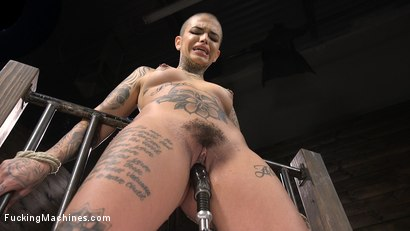 Photo number 13 from Tattooed Slut Machine Fucked in Tight Bondage shot for Fucking Machines on Kink.com. Featuring Leigh Raven in hardcore BDSM & Fetish porn.