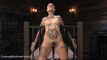 Photo number 7 from Tattooed Slut Machine Fucked in Tight Bondage shot for Fucking Machines on Kink.com. Featuring Leigh Raven in hardcore BDSM & Fetish porn.