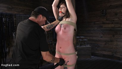 Photo number 2 from Pain Slut Paige Pierce Submits to Rope Bondage and Corporal Punishment shot for Hogtied on Kink.com. Featuring Paige Pierce and The Pope in hardcore BDSM & Fetish porn.