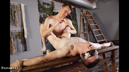 Photo number 3 from Wanked And Waxed To The Limit shot for Boynapped on Kink.com. Featuring Matt Madison and Sean McKenzie in hardcore BDSM & Fetish porn.
