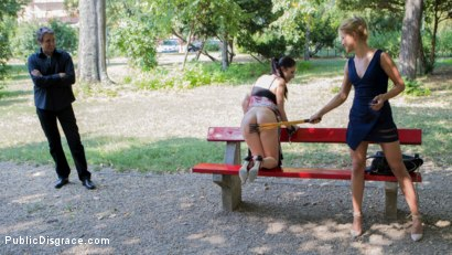 Photo number 3 from 19 Year Old Rebecca Volpetti Humiliated with Public Sex and Punishment shot for Public Disgrace on Kink.com. Featuring Steve Holmes, Cherry Kiss and Rebecca Volpetti in hardcore BDSM & Fetish porn.