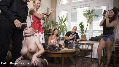 Photo number 19 from Humiliated Whore Isabella Clark Disgraced and Anally Fucked in Public  shot for Public Disgrace on Kink.com. Featuring Steve Holmes, Cherry Kiss and Isabella Clark in hardcore BDSM & Fetish porn.
