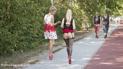 Photo number 3 from Humiliated Whore Isabella Clark Disgraced and Anally Fucked in Public  shot for Public Disgrace on Kink.com. Featuring Steve Holmes, Cherry Kiss and Isabella Clark in hardcore BDSM & Fetish porn.