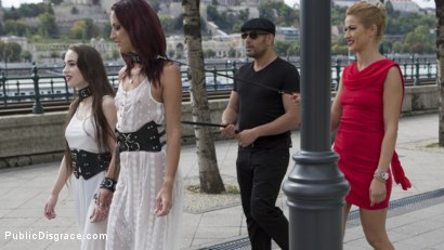 Photo number 2 from Fresh Meat Angel Rush and Lyen Parker Humilated and Fucked in Public!  shot for Public Disgrace on Kink.com. Featuring Steve Holmes, Cherry Kiss, Antonio Ross, Angel Rush  and Lyen Parker in hardcore BDSM & Fetish porn.
