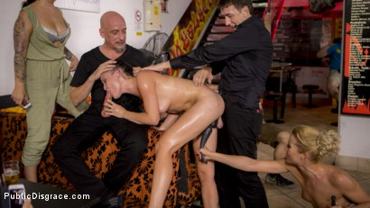 Photo number 27 from Dolly Diore's All Out Public Fuckfest  shot for Public Disgrace on Kink.com. Featuring Steve Holmes, Cherry Kiss, RAM, Dolly Diore  and Angel Rush in hardcore BDSM & Fetish porn.