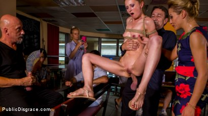 Photo number 9 from Blonde Czech Slut Gets Fucked In The ASS In Budapest shot for Public Disgrace on Kink.com. Featuring Steve Holmes, RAM, Cherry Kiss and Luca Bella in hardcore BDSM & Fetish porn.