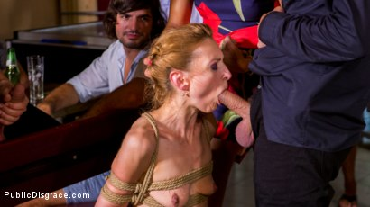 Photo number 10 from Blonde Czech Slut Gets Fucked In The ASS In Budapest shot for Public Disgrace on Kink.com. Featuring Steve Holmes, RAM, Cherry Kiss and Luca Bella in hardcore BDSM & Fetish porn.