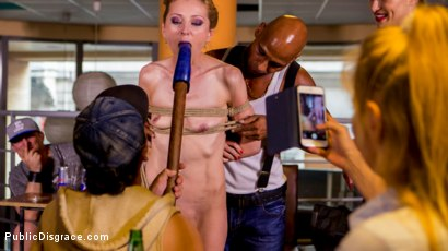 Photo number 6 from Blonde Czech Slut Gets Fucked In The ASS In Budapest shot for Public Disgrace on Kink.com. Featuring Steve Holmes, RAM, Cherry Kiss and Luca Bella in hardcore BDSM & Fetish porn.