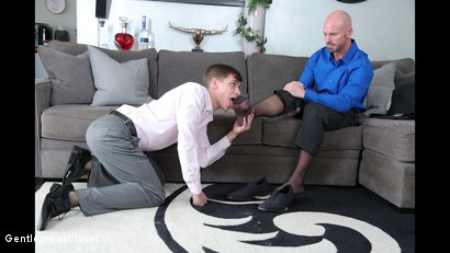 Photo number 5 from Sheer Fuck shot for Gentlemens Closet on Kink.com. Featuring Mitch Vaughn and Kory Houston in hardcore BDSM & Fetish porn.