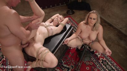 Photo number 14 from A Mother's Job is Never Done: Anal Assassin Trains Her Step-Daughter  shot for The Upper Floor on Kink.com. Featuring Angel Allwood, Chloe Cherry and John Strong in hardcore BDSM & Fetish porn.
