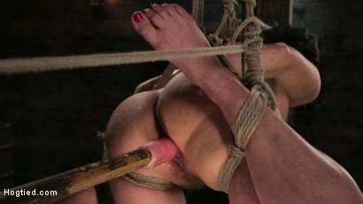 Photo number 8 from Bound Slave Cherry Torn Tormented in Rope Bondage and Multiple Orgasms shot for Hogtied on Kink.com. Featuring Cherry Torn and The Pope in hardcore BDSM & Fetish porn.