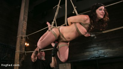Photo number 9 from Bound Slave Cherry Torn Tormented in Rope Bondage and Multiple Orgasms shot for Hogtied on Kink.com. Featuring Cherry Torn and The Pope in hardcore BDSM & Fetish porn.