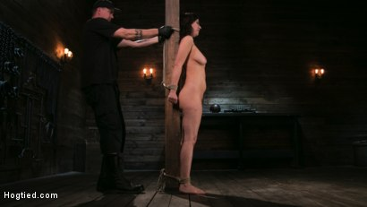 Photo number 10 from Bound Slave Cherry Torn Tormented in Rope Bondage and Multiple Orgasms shot for Hogtied on Kink.com. Featuring Cherry Torn and The Pope in hardcore BDSM & Fetish porn.